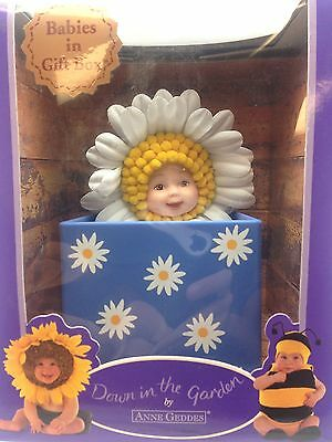 Anne Geddes Flower Pot Babies Doll Down In The Garden Baby Daisy Rare Gift AG4