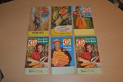 Lot of 6 Book Old Funk's Hybrids Corn Data Notebook Illinois 1948-1956