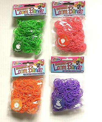 500 packs 300 scented loom bands christmas stocking fillers wholesale party bag