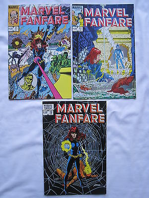 BLACK WIDOW :COMPLETE 3 ISSUE STORY by GEORGE PEREZ in MARVEL FANFARE 10-12.1983