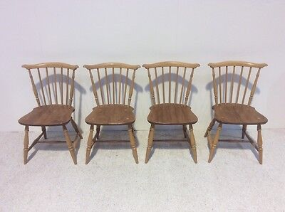 Set Of 4 Retro Ercol Elm Dining Chairs Rare Shape Best Colour More Ercol InStock