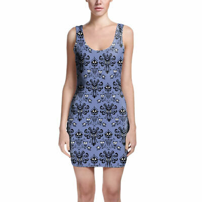 Haunted Mansion Wallpaper Bodycon Dress