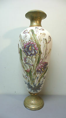 "Stunning Antique Royal Bonn Germany Rare Hand Painted Porcelain 23"" Floor Vase"
