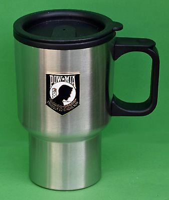POW / MIA Stainless Steel Travel Coffee Mug Cup with lid