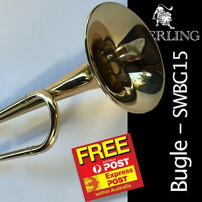 STERLING Bugle • Brand New • Gleaming clear epoxy lacquer finish • With Gig Bag