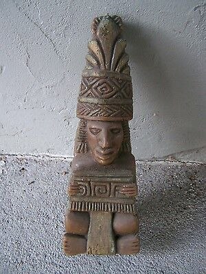 Precolumbian Aztec? Maya? Toltec? Jaguar Idol/God Made of Wax - Mexico
