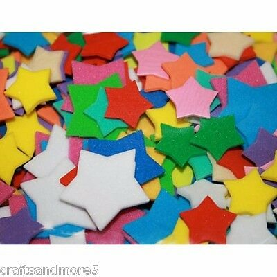 100 FOAM  STARS ~ 18mm-32mm ~ GREAT FOR DECORATING CRAFTS/SCRAPBOOKING