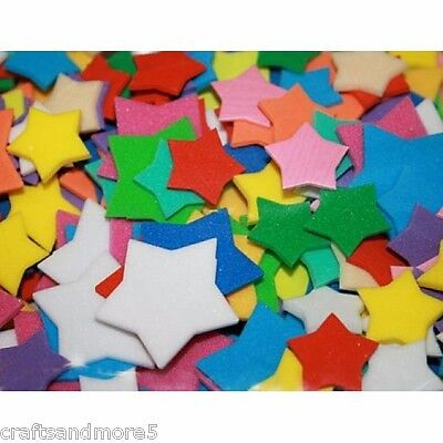 100 Foam Stars ~ 18mm & 32mm ~ Various Colours & Sizes