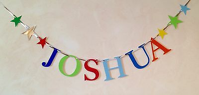 Boys Personalised Birthday Party Banner (Any Name) Bunting Decoration
