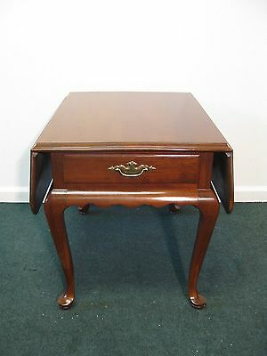 Ethan Allen Georgian Court Drop Leaf End Table One Drawer