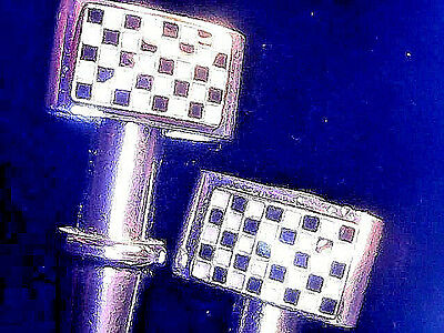 2 Racing Flag Nascar Cribbage Board Pegs, Stainless Steel, USA, Velvet Pouch a