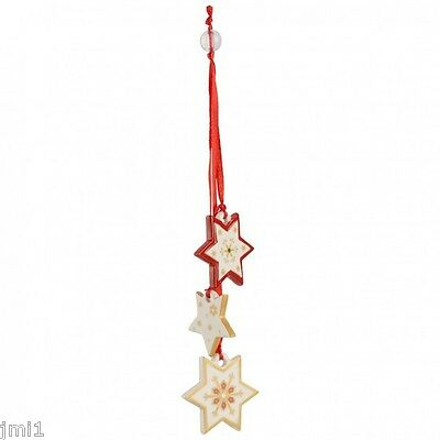 Villeroy & Boch MY CHRISTMAS TREE Ornament:  Trio of Stars #5467
