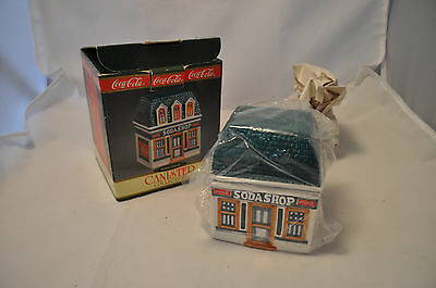 1997 Retired Coca-Cola Canister Collection Soda Shop New in Box