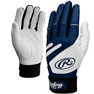 Rawlings Pro Mesh Batting Gloves Pair Bgp650Y Youth Large Navy Blue  Lzzb