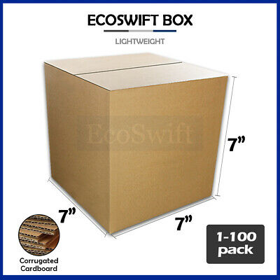 "1-100 7x7x7 ""EcoSwift"" Cardboard Packing Mailing Shipping Corrugated Box Cartons"
