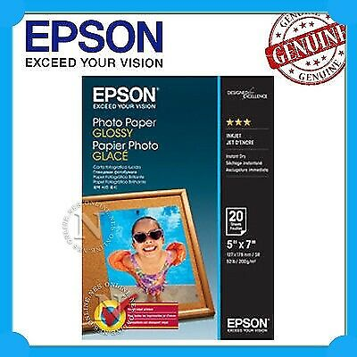 "Epson Genuine S042544 5x7"" Glossy Photo Paper (20 Sheets) 200GSM 127mmx178mm"