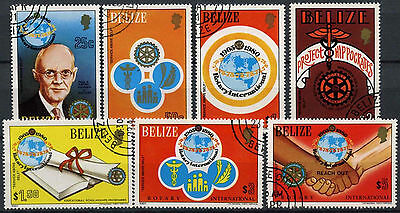 Belize 1981 SG#606-612 Rotary International Cto Used Set #D2409