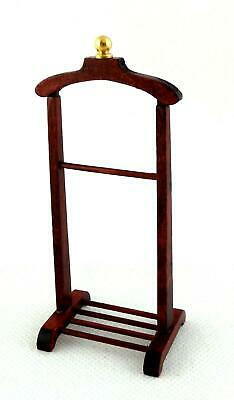 Melody Jane Dolls House Miniature Bedroom Victorian Gents Valet Clothes Stand