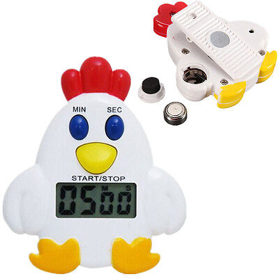 Useful Magnetic Electronic LCD Kitchen Timer Count Up Down Egg Cooking Alarm