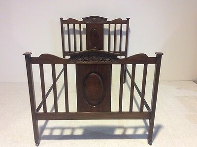 Antique Victorian Walnut Double Bed Good Quality More Beds In Stock