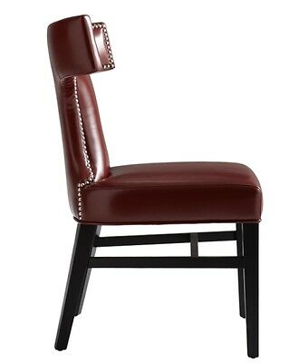 Leather Dining Chair w/Silver Nail SR-57232
