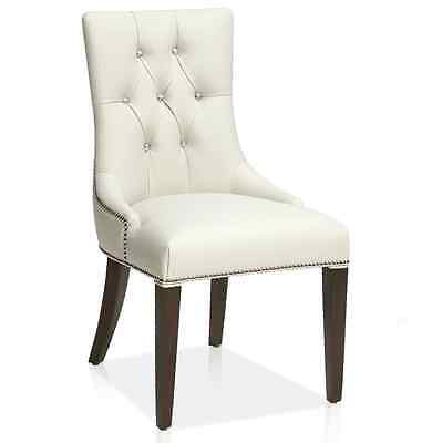 KR-806 Accent Leather Dining Chair in Ice White