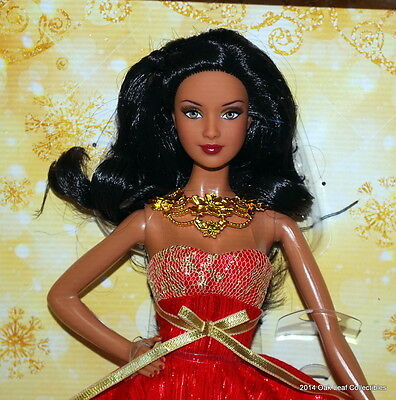 2014 Mattel Barbie Happy Holidays Aa Special Edition Nrfb
