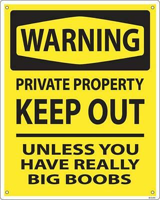 Warning Private Property Keep Out.. aluminium funny wall sign  255mm x 205mm(ss)