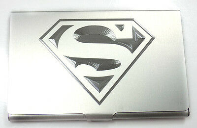 Superman DC Comics Engraved Business Card Wallet Case Holder Patch Gift BUS-0447