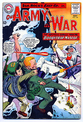 "OUR ARMY AT WAR #154 VG, Joe Kubert c/a, 3/4"" spine split, DC Comics 1965"