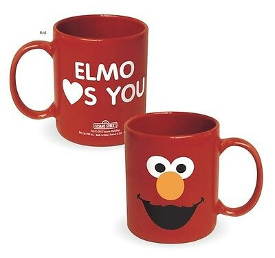 Sesame Street Elmo: Elmo Hearts You Red 12 oz Ceramic Coffee Mug, NEW UNUSED