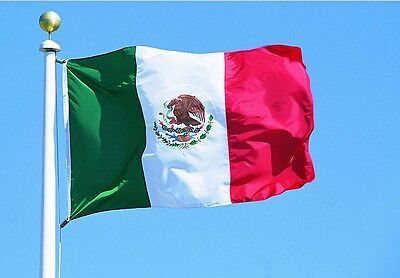 3x5' Feet Polyester Mexico Flag Mexican Country Indoor Outdoor Banner Pennant