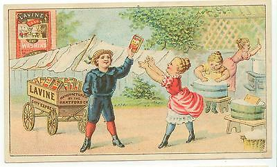 c1880s Lavine's Washing Soap trade card