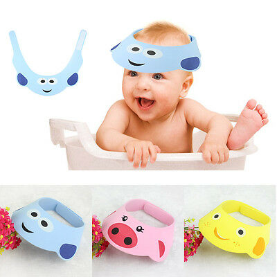 Baby Toddler Adjustable Hats Shampoo Shower Bathing Bath Protect Soft Cap Hat