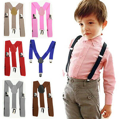 Refined Kids Boys Girls Y-Back Suspender Child Elastic Adjustable Clip-On Braces