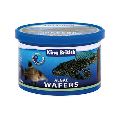 King British Algae Wafers 100G Aquarum Fish Food Tropical Pleco Bottom Feeders