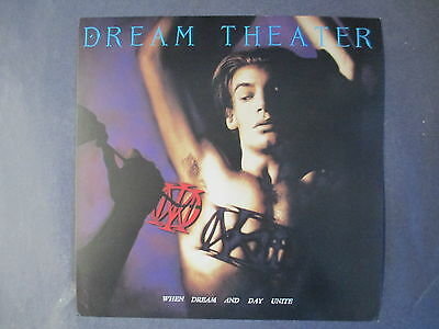 1989 Dream Theater - When Dream And Day Unite Promotional Lp Flat Poster