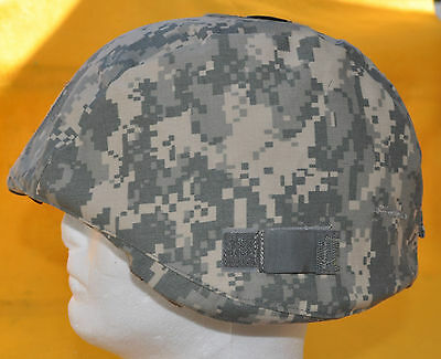 US Army ACH Helmet Cover with I/R tab covers-Not Reversable Army Camo cover
