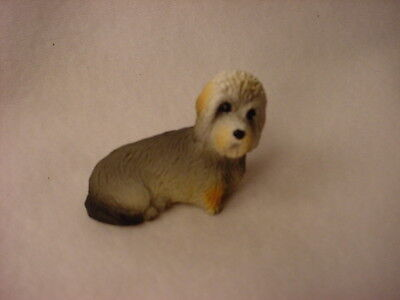 DANDIE DINMONT puppy TiNY dog FIGURINE Resin MINIATURE Mini COLLECTIBLE Statue