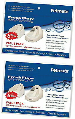 Petmate 12pk (2x6pk) Fresh Flow Fountain Replacement Filters