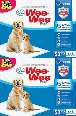 Four Paws Wee Wee Pads for Dogs, 22x23 Inch, 150 Count, 2 Pack