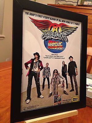 "Framed Original Aerosmith ""music From Another Dimension"" Lp Album Cd Promo Ad"