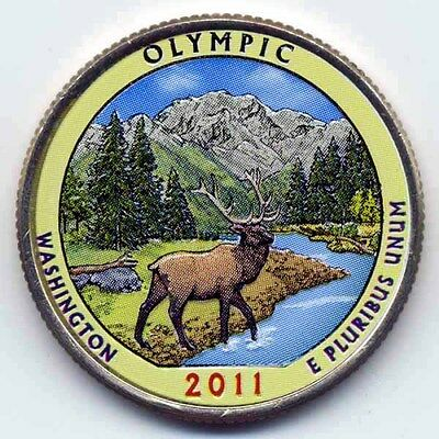 2011 Olympic Colorized America's Beautiful National Parks Quarter (D)