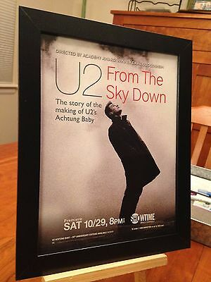 "1 FRAMED U2 ""FROM THE SKY DOWN"" DVD LP ALBUM CD ""PROMO AD"" - choose from 4!"