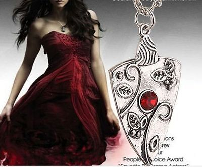 1Pc Fashion Antique Silver Vampire Diaries Chain Pendant Necklace