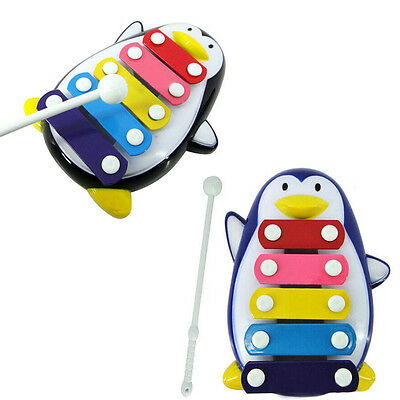 Baby Child Kid Wisdom Development Penguin 5-Note Xylophone Musical Toys Gifts