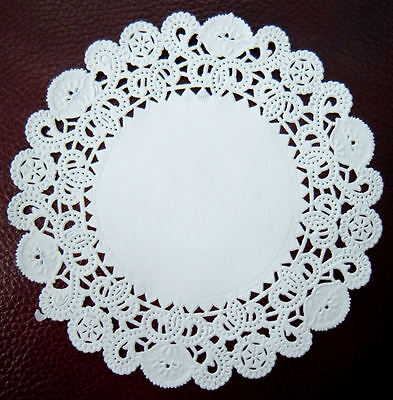White Paper Doilies,Pack 100 x Round Disposable Doily,Small 5 inch Craft Doiley