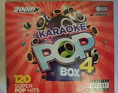 Zoom Karaoke Cdg   Pop  Box  4       120  Top Party Hits On  6 Discs  ' New ''