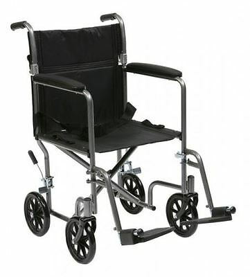 Lightweight Travel Wheelchair Folding Portable Transit Mobility Aid