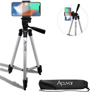"50"" SmartPhone Tripod for iPhone X 8 8+ 7+ 7s 6s 6s+ 6 Plus + Wtr Resistant Bag"